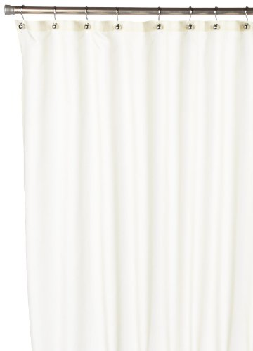 Carnation Home Fashions, Inc Nylon Shower Curtain Liner, Ivory