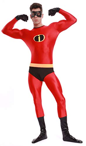 Ourworth Mr Incredible Costume Mens The Incredibles Costume,Red and Black,L -