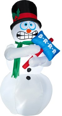 Shivering Snowman - 6 Feet Tall - Shivers and Shakes (Hope Snowman)