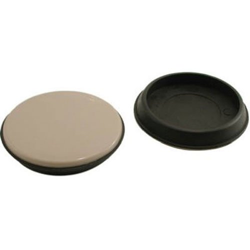 Shepherd Hardware 9222 2-3/4-Inch Reusable, Round, Slide Glide Furniture Cups, ()