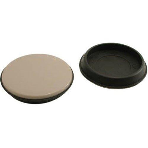 Shepherd Hardware 9222 2-3/4-Inch Reusable, Round, Slide Glide Furniture Cups, 4-Pack