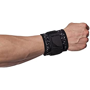 Rehabz Premium Adjustable Wrist Support Pro Performance with Stabilizing Strap, One Size, Unisex, Compression, Support & Stability, for Gym, Weights, Weak or Arthritic Wrists, Sprains, Strains