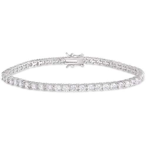 (Victoria Townsend Round Cubic Zirconia Classic Tennis Bracelets for Women, 7.50