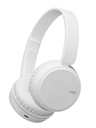 JVC Deep Bass Wireless Headphones, Bluetooth 4.1, Bass Boost Function, Voice Assistant Compatible, 17 Hour Battery Life - HAS35BTW(White)