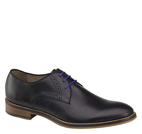 Johnston & Murphy Men's Conard Plain Toe Shoe Black Italian Calfskin 9 M US