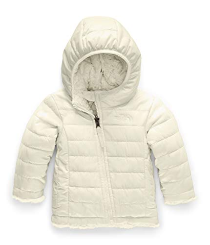 The North Face Infant Reversible Mossbud Swirl Hoodie, Vintage White, 12-18 Months
