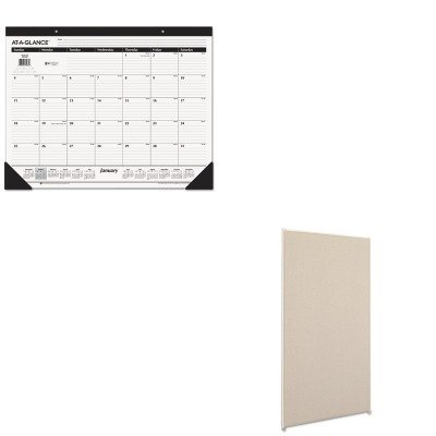 KITAAGSK2400BSXP6030GYGY - Value Kit - Basyx Vers Office Panel (BSXP6030GYGY) and At-a-Glance Recycled Desk Pad (AAGSK2400)
