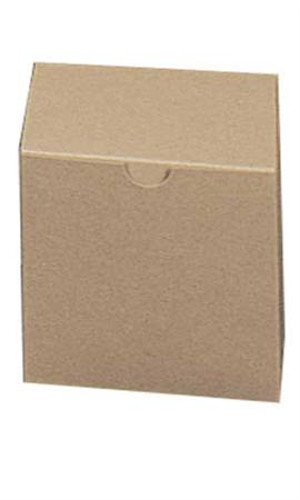Count of 100 New Retail Gift Boxes - Kraft with 4''L x 4''W x 4''D