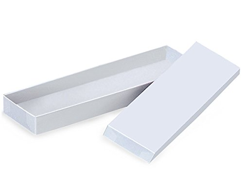 14x4-1/2x3/4 White Gloss Jewelry Box w/ No Cotton Filler (Unit Pack - 100) by Better crafts