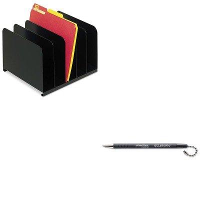 KITMMF2645004MMF28704 - Value Kit - MMF Desktop Vertical Organizer (MMF2645004) and MMF Secure-A-Pen Replacement Ballpoint Counter Pen (MMF28704)