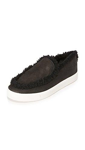 Vince Womens Carlen Shearling Slip Op Sneakers Zwart