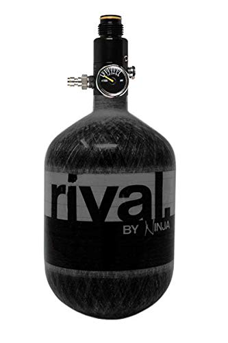 Ninja Rival Paintball Carbon Fiber 50ci 4500psi Compressed HPA Air Tank (Black)
