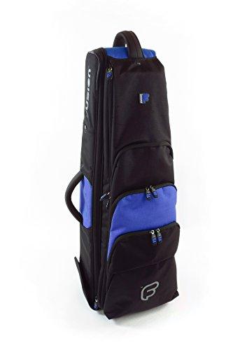 Fusion PB-15-B Premium Tenor Trombone 9.5-Inch Bell Gig Bag, Black/Blue