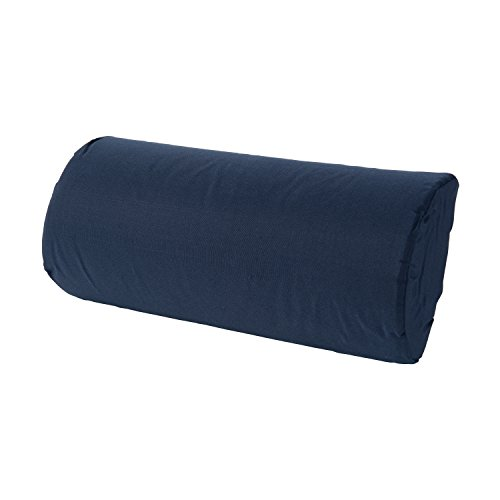 DMI Lumbar Roll Back Support Cushion Pillow, Half-Moon Size, Navy