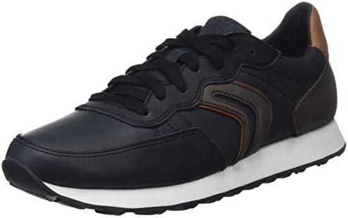 Geox Men's U Vincit C Low Top Sneakers, (BlackCoffee C0630