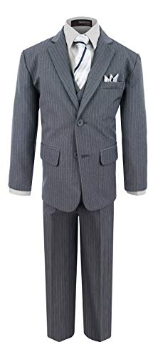 Boy's Formal Pinstripe Dresswear Suit Set #G220 (10, -