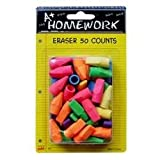 DDI - Cap Erasers(Pencil) - assorted colors - 50 count (1 pack of 48 items)