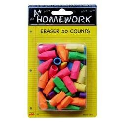 Ddi - Cap Erasers - Assorted Colors - 50 count (1 pack of 48 items) by  (Image #1)