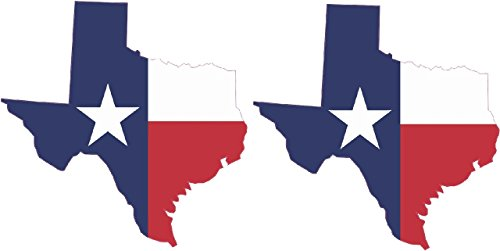 StickerTalk 2 x 3in x 3in Die Cut Texas State Flag Sticker Vinyl Cup Decal Car ()
