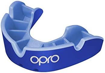 OPRO Silver - Protector bucal para Rugby, Hockey, MMA, Boxeo, Baloncesto y Otros Deportes de Contacto