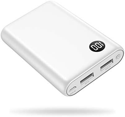 kilponen Batería Externa 13800mAh Power Bank Cargador Móvil Portátil Ultra Compacto 2 Salidas USB con Ultra Alta Capacidad para Huawei,Xiaomi Smartphones/Tablets Android y Más (Blanco): Amazon.es: Electrónica