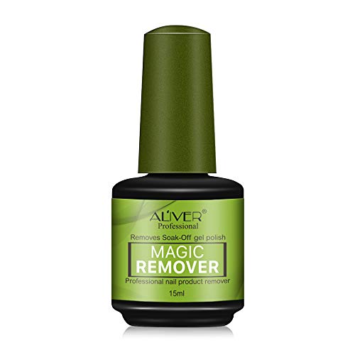 Magic Soak-Off Gel Nail Polish Remover, Professional Remover Nail Polish Delete Primer Acrylic Clean Degreaser For Nail Art Lacquer 15ml (Best Nail Polish Remover For Gel Nails)