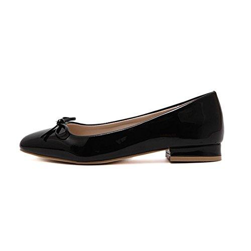 fereshte Ladies Women's Comfy Slip On Work School Dolly Pumps Ballet Flats Shoes 622Black iYK0PL