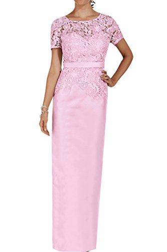 Aermel Cocktailkleid Spitze Damen Charmeuse Knielang Abendkleid Missdressy Rosa Band 1 X7UwqOx