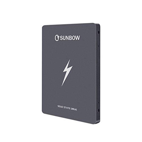 TCSUNBOW 120 GB 128 GB de 2,5 Pulgadas SSD con 128 MB de Memoria SATAIII 6 GB/s de Disco Duro Interno de Estado solido para Notebook Tablet PC de Escritorio (X3 120 GB)