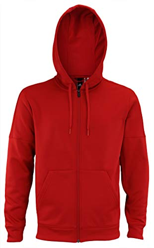 adidas Men's Full-Zip Fleece Hoodie, Red Small ()