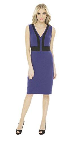 Sz V Sheath AMY Neck 10 MATTO Womens Sleevless 230731F Black Purple DANA Dress qxEwU8RE