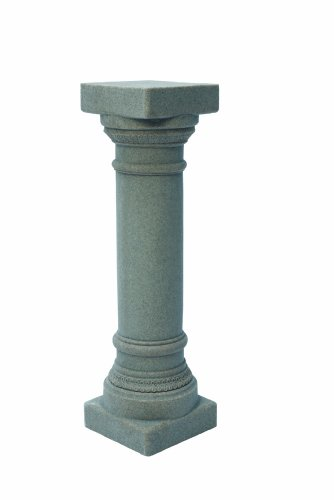 "EMSCO Group Greek Column Statue – Natural Granite Appearance – Made of Resin – Lightweight – 32"" Height (Stand Sundial)"