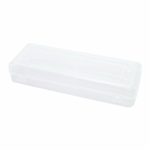 Advantus Stretch Pencil Box, 13.25 x 5 x 2 Inches, Clear, Case of 12 (67033CT) by Advantus