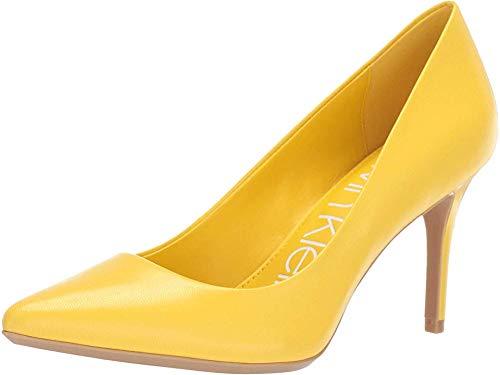 - Calvin Klein Women's Gayle Pump Lemon Leather 8 M US