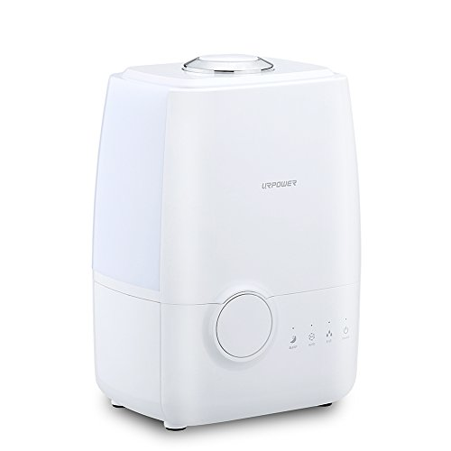 Urpower Ultrasonic Cool Mist Humidifier Advanced Whisper Quiet Operation Humidifier Waterless