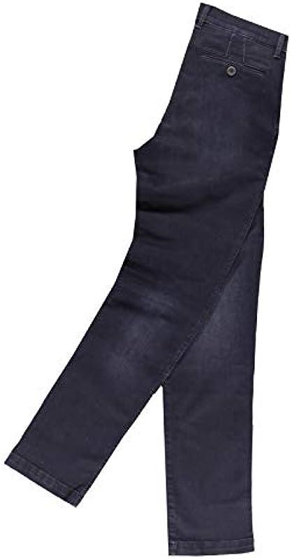 emilio adani męskie dżinsy Basic z materiału High Stretch, 30151, niebieskie: emilio adani: Odzież