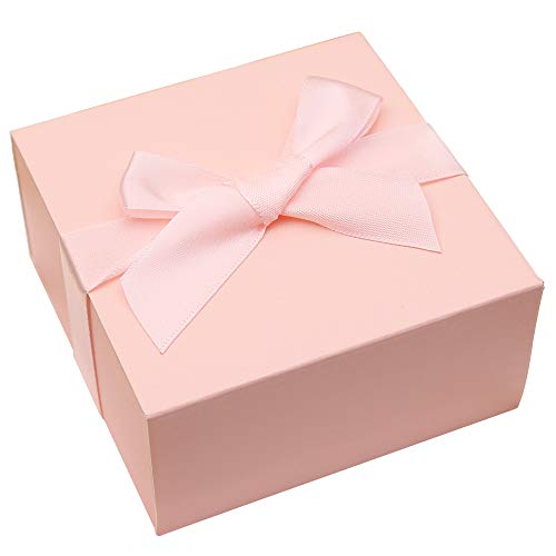 (Doris Home 50 pcs 1.89x4x4 inch Birthday Wedding Party Favor, Wedding Gift Bags Chocolate Candy and Gift Boxes Bridal Shower Party Paper Gift Box Pink Boxes with Ribbons (Pink))