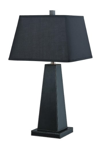 - Lite Source LS-21133BLK/BLK Blakeney Table Lamp, Black with Black Fabric Shade
