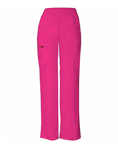 (Dickies Women's Signature Elastic Waist Scrubs Pant, Hot Pink, X-Small )