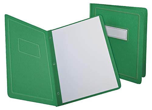 Oxford Title Panel and Border Front Report Covers, Light Green, Letter Size, 25 per Box, (52503)