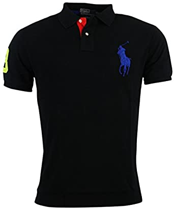 Polo Ralph Lauren Mens Custom Fit Big Pony Mesh Polo Shirt