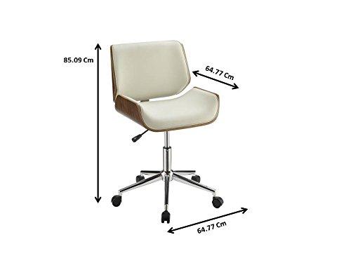 Coaster Home Furnishings 800613 Leatherette Office Chair, NULL, Ecru by Coaster Home Furnishings (Image #2)