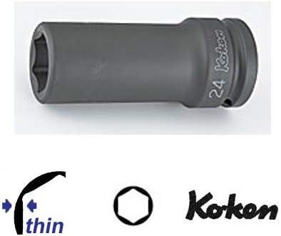 """コーケン 1""""(25.4mm)SQ. インパクト6角ディープソケット(薄肉) 1"""" 18301A-1"""