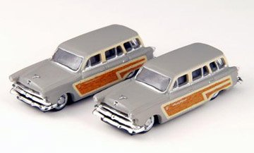 1953 Ford Country Squire Wagon (Grey) (2) N Scale Classic Metal Works