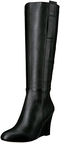Nine West Women's Orsella Leather Winter Boot Black WK7c3LE51