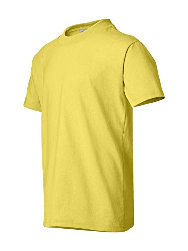 Hanes Youth Short Sleeve ComfortBlend T-Shirt, Yellow, Large