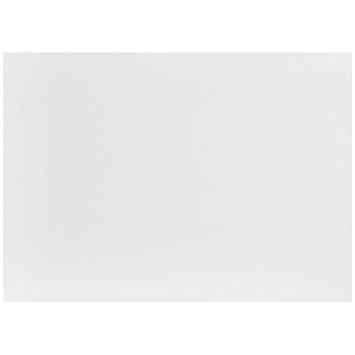 "JAM Paper Flat Note Cards - 3 1/2"" x 4 7/8"" - White - 50/Pack"