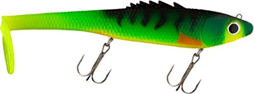 Chaos Tackle The Posseidon 10 Firetiger Musky Pike Lure Muskie Bait Lures Swim Bait Bull Dawg