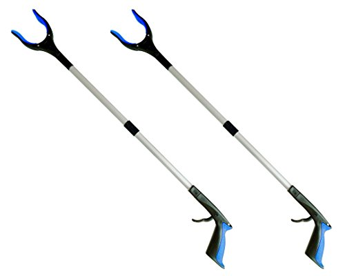 2-Pack ThingWx Pro Foldable Reacher Grabber with Rotating Grip - 34'' Long Aluminum Alloy Lightweight and Durable Reaching Aid Tool by ThingWx