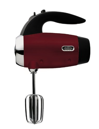 Sunbeam 2560 Heritage Series 6-Speed 250-Watt Hand Mixer, Red by Sunbeam
